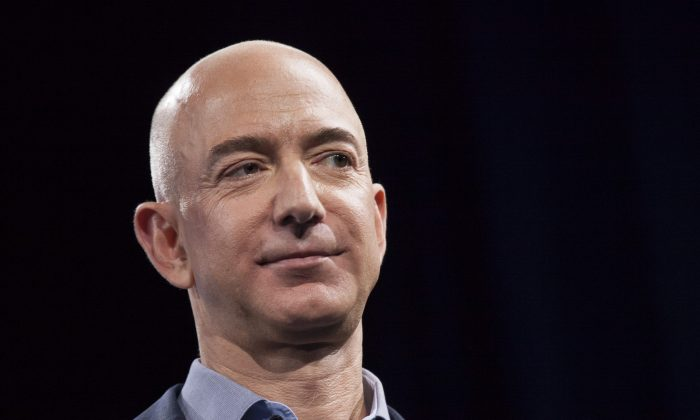 Amazon.com founder and CEO Jeff Bezos. (David Ryder/Getty Images)