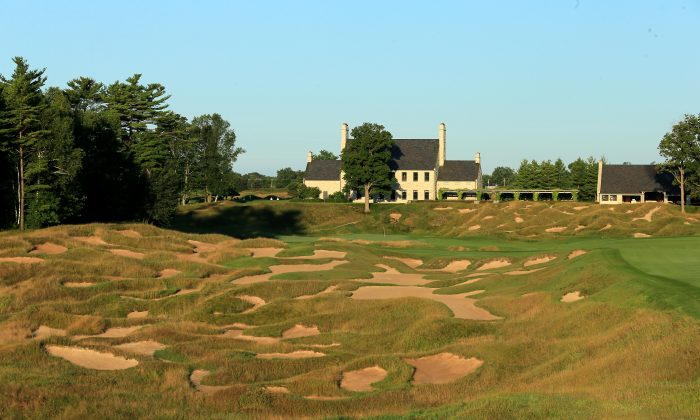 The 520 yards par 4, 18th hole on the Whistling Straits 'Straits' Course venue for the 2015 PGA Championship on August 14, 2014 in Kohler, Wisconsin. (David Cannon/Getty Images)
