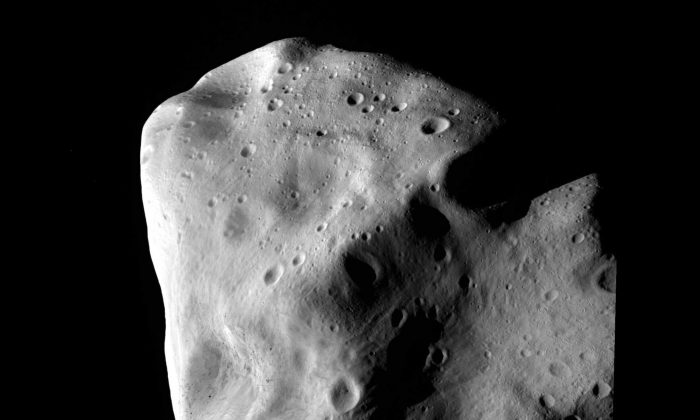 The asteroid Lutetia at closest approach July 10, 2010 between Mars and Jupiter in outer space. (OSIRIS Team/Getty Images)