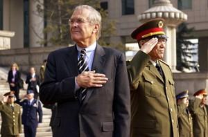 Defense Secretary Rumsfeld in China