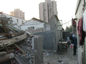 """""""Appeal Village"""" close to South Beijing Railway Station after deconstruction by police. (The Epoch Times)"""