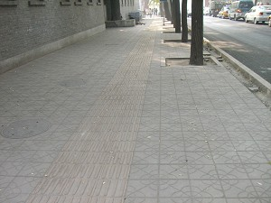 Picture of the east side of Nanchang Street taken from its south end on November 4, 2005 by an Epoch Times reporter. (The Epoch Times)