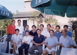 Xu Wanping and friends.
