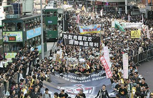 Hong Kong Protest Blacked Out by China Media