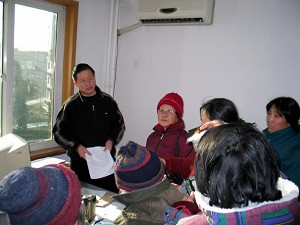 On the afternoon of January 7, Gao Zhisheng hosted 30 to 40 appellants from all over the country. (Hu Jia)
