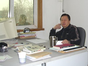 Gao Zhisheng in his office on January 18 (The Epoch Times)