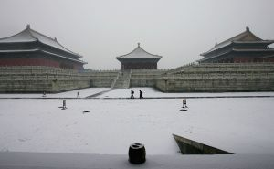 Beijing's Forbidden City. China is experiencing the coldest winter in 20 years, according to the Central Meterological Office. (Guang Niu/Getty Images)