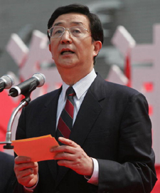 Chen Liangyu, secretary of the CCP Shanghai Municipal Committee (China Photos/Getty Images)