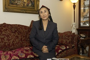 Rebiya Kadeer, the exiled leader of the Uighur ethnic group in China and a candidate for the 2006 Nobel Peace Prize. (Stephen J. Boitano/AFP/Getty Images)
