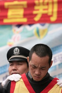 A condemned Chinese prisoner (Getty Images)