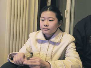 Gao Zhisheng's 13-year-old daughter Geng Ge (nickname Gege). (Provided by Hu Jia, a renowned human rights and democratic activist in China)