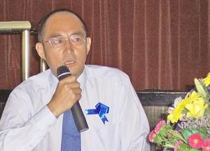 Professor Yuen Hongbin. (The Epoch Times)