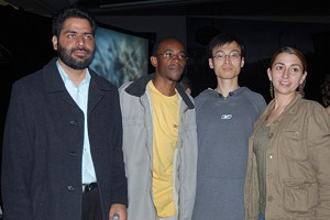 Four recipients of the 2006 Reebok Human Rights Award. Second right is Li Dan. (The Epoch Times)