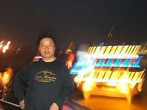 Gao Zhisheng in a ferry leaving Chongqing City (Ma Wendu)