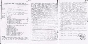 A copy of Liang Jinghui's certificate of mental disorder  (The Epoch Times)