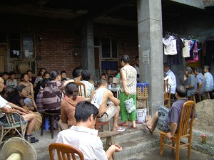 At a meeting on July 3, Baiguo village re-elected five village representatives. (The Epoch Times)
