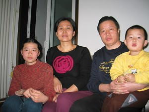 Gao Zhisheng (2nd from R) and his family. (Photo courtesy of Mr. Hu Jia, an environmentalist and human rights activist in China)