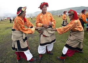 Clothing of young Tibetan men at a festival in Litang County (Liu Jin/AFP/Getty Images)