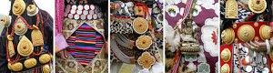 Tibetan decorations displayed at a festival in Litang County, Tibet. (Liu Jin/AFP/Getty Images)
