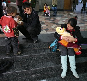 China's children population has reached roughly 100 million. By 2020, there will be some 30 million more men than women between twenty and forty-five years of age. (China Photos/Getty Images)
