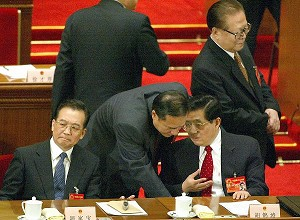 National People's Congress in Beijing, on March 14, 2004. (Getty Images)