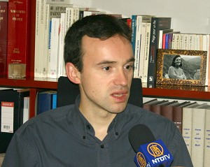 Vincent Brossel, spokesperson for Reporters Without Borders. (The Epoch Times)
