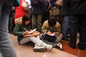 Survey reveals that college students in China suffer from psychological disorders because of stress. (Getty Images)