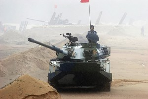 A report by 2004-5 Special Case Unit says that China's military has been robbed of all military aircraft, tanks, and other military supplies stored in five of its largest depots (China Photos/Getty Images)