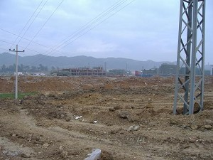Razed villagers' homes site. (Photo provided by villager)