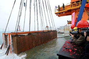 An 800-year-old ancient ship was salvaged from the Southern China Sea. (The Epoch Times)