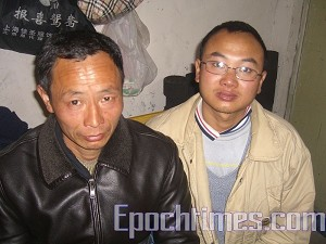 Appellant Xu Zhimin (left), from Chong-en County Jiangxi Province, revealed the inside story of an illegal appellant prison in Beijing.
