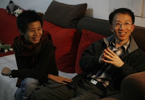 Prominent human rights activist Hu Jia and his wife Zeng Jinyan. (Frederic J. Brown/AFP/Getty Images)