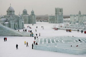 Ice castles of different styles. (Cancan Chu/Getty Images)