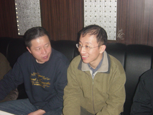 Attorney Gao and Hu Jia together on Dec. 28, 2005 (The Epoch Times)