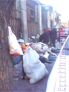 A typical street in Beijing where appellants from around the country eat and sleep in open air all the year round. (The Epoch Times)