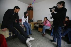 Bao Xishu and his new wife, Xia Shujuan, were interviewed at their home on March 30. 2007. (China Photos/Getty Images)