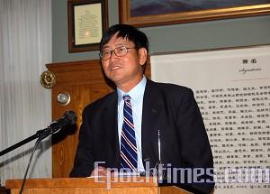 China Social Democratic Party leader, Liu Guokai. (Xu Ming/The Epoch Times)