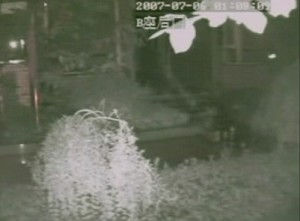 A flying dragon was recently seen in the infra-red security camera of a residential building in western China. (The Epoch Times)