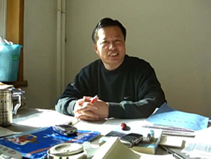 Attorney Gao Zhisheng in his Beijing office prior to his arrest. (The Epoch Times)
