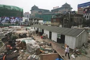 There is new constructions throughout Beijing's urban districts. Most of the old-style courtyard houses have been demolished. (Guang Niu/Getty Images)