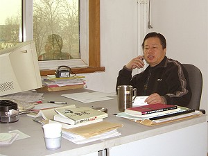 Gao Zhisheng at work (The Epoch Times)