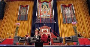 Tibetan spiritual leader, the Dalai Lama (C).  (Roland Magunia/AFP/Getty Images)
