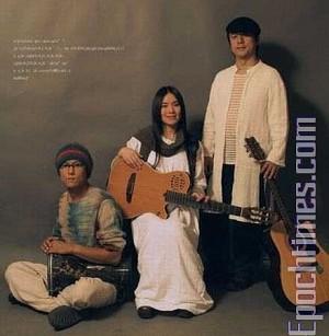 Yu Zhou(L), Xiaojuan(C) and Xiaoqiang(R) on the cover of their album.