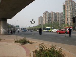 The site where Yu Zhou and his wife were stopped by the police. (The Epoch Times)