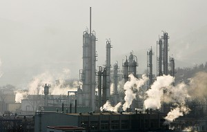 A petrochemical plant similar to one planned for Chemgdu. Activists have reservations about its environmental safety. (Guang Niu/Getty Images)
