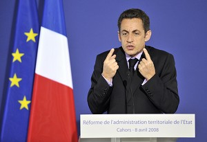 French President Nicolas Sarkozy whose stance on Tibet has angered the Chinese Communist Party.  (Eric Feferberg/AFP/Getty Images)