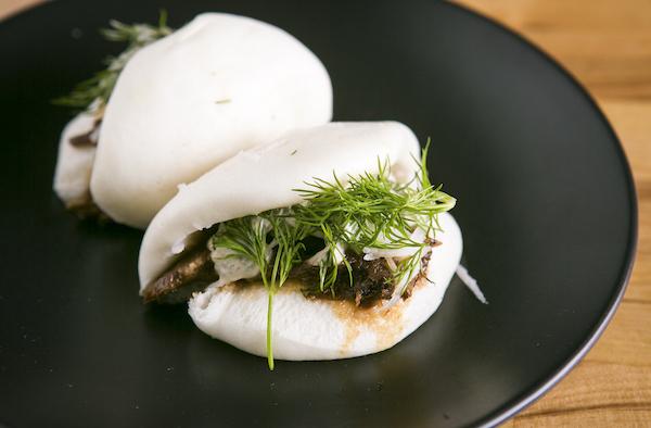 Lamb Bun with feta cream, dill, and pickled daikon. (Samira Bouaou/Epoch Times)