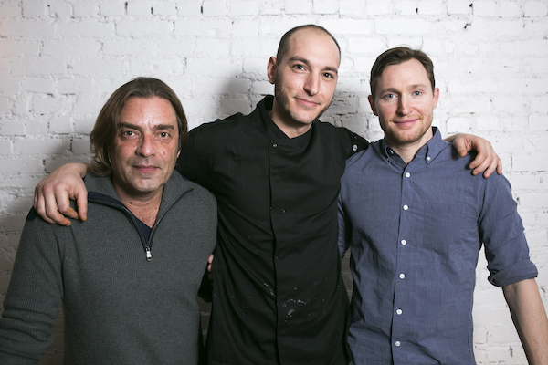 (L–R) Maitre d' Carl Cortes, executive chef Anthony Theocaropoulos, and owner/partner Mike Kennedy. (Samira Bouaou/Epoch Times)