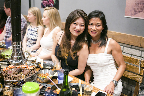 Jean Lee (L) and Miriam Tai at Jongro BBQ. (Samira Bouaou/Epoch Times)