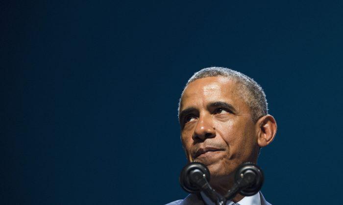 US President Barack Obama speaks during the National Clean Energy Summit 8.0 in Las Vegas, Nevada, August 24, 2015. (Jim Watson/AFP/Getty Images)